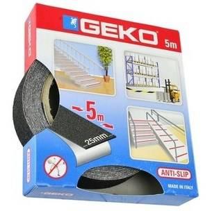 Adhesive tape Anti-slip Antislip Black 18m Geko
