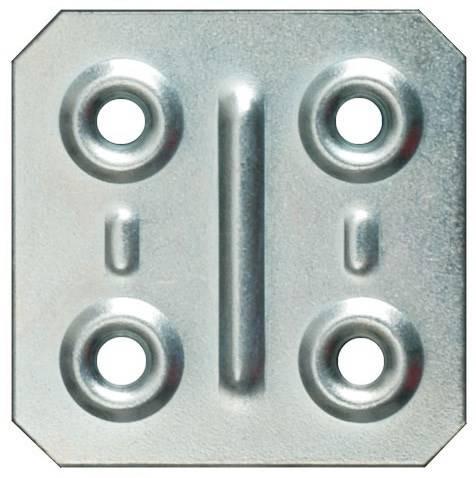 Square plate 4x4 cm Art.57 Sipa