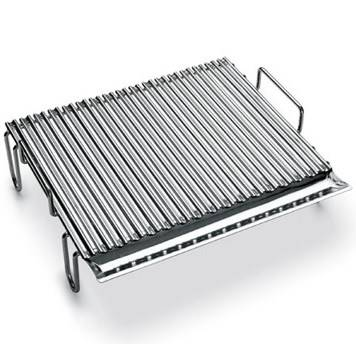Stainless steel grill with Sgocciolatorio cm.48x44