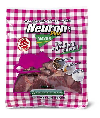 Bait Rodenticide Poison Topic Mice Pasta Neuron Plus Pasta 500gr Mayer Braun