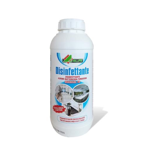 QUANISOL 10 Detergente Igienizzante Disinfettante Ambienti Superfici 1 Lt Al.Fe