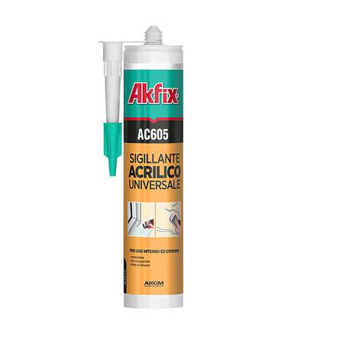 Silicone Acrylic Sealant Universal Cracks and Joints 310ml AC605 Akfix