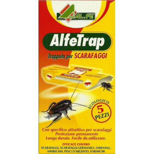 5 Traps Adhesive for Cockroaches ALFETRAP Al.Fe