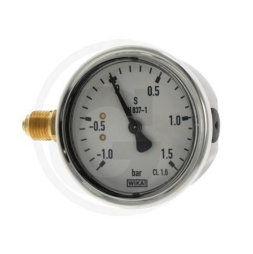 "Vacuum pressure gauge with glycerine -1 / + 1,5 bar 1/4 ""4050840091 Wika6"