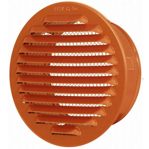 Ventilation grill Round Copper with Network