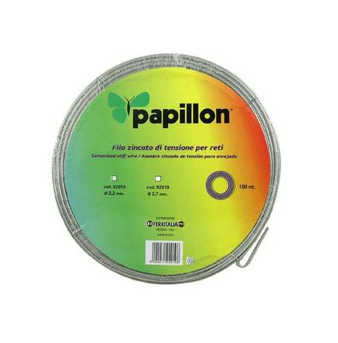 2,70 mm galvanized wire in a 100Mt Papillon roll