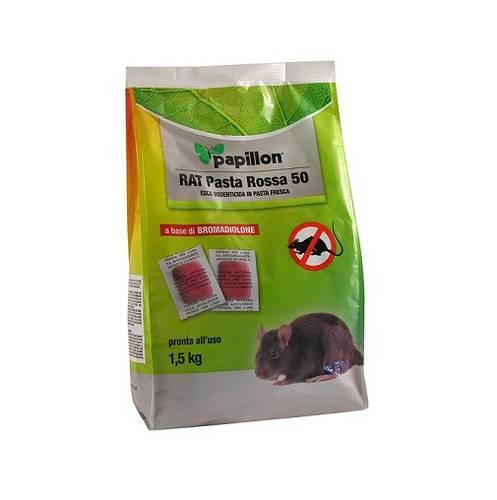 Topicidal Bait in RAT Sachets Red Paste 50 1.5 Kg Papillon