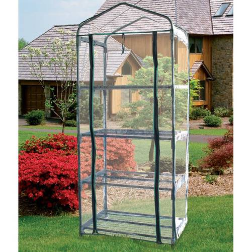 Greenhouse with PVC Cover 4 Shelves Papillon 094,288