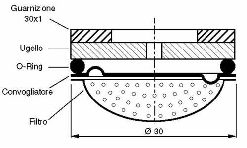 Nozzle with conveyor Foro ø30 ø1,2 11157