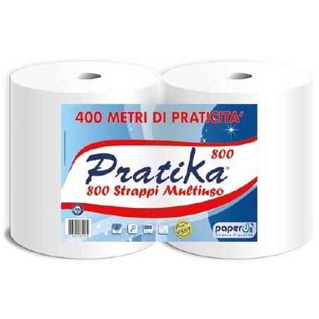 "Paper Roll 800 Sheets Pure Cellulose ""Pratika 800"" Paperdì"