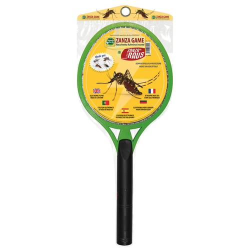 Electronic Mosquito Racket Zanza Game Green World
