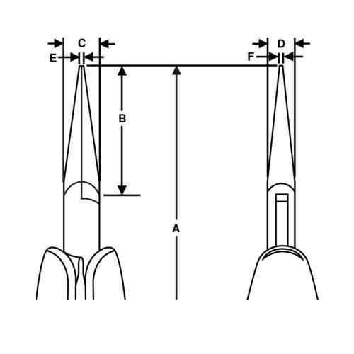 Precision pliers with long spouts RX 7891 Bahco