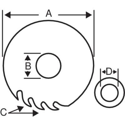 Lama Circolare 8501-28SW 250mm Bahco
