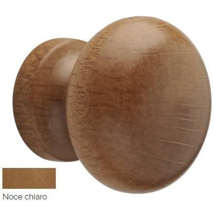 Light Walnut Wood Knob mm.42 Art.279 Mital