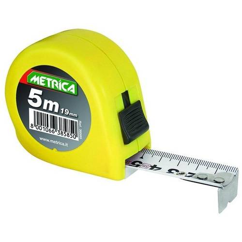 Yellow tape 5m 38585 Metric