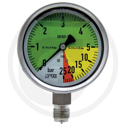 "Glycerine Gauge 0-5-20-25 bar 1/2 ""6709190525 Wika"