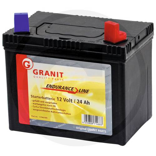 12V 24AH Starting Battery for Tractor Art.5796U1R9 Granit