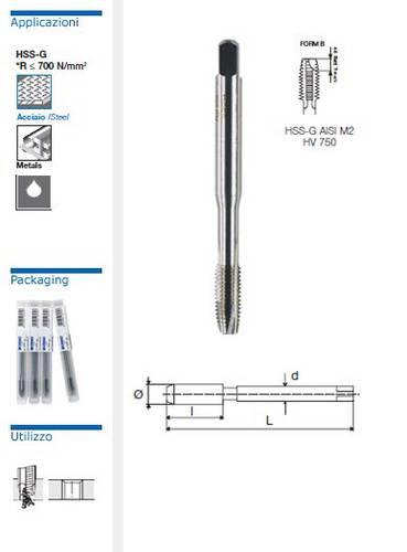 Machine tap HSS-G DIN 371 / B Straight Grooves Krino 10162
