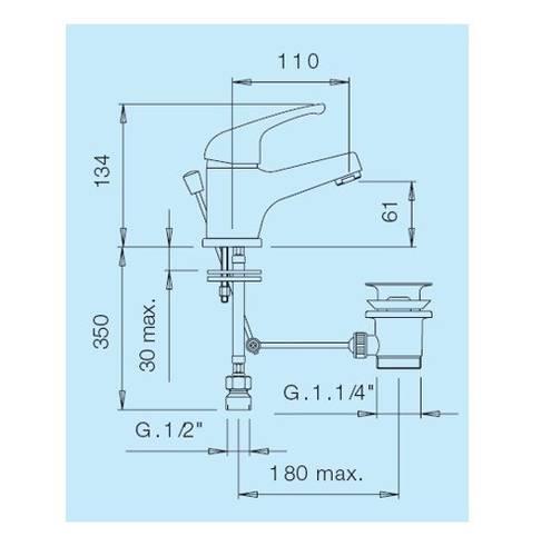 Mixer faucet for Bidet 11/4 CR