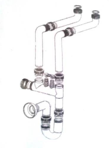 "Siphon with Space Two-Way 1 ""1/2"
