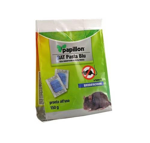 Topicidal Bait in RAT Blue Paste Sachets 150 gr Papillon