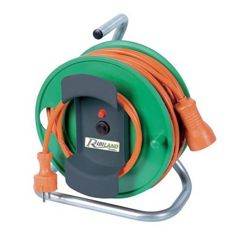 Ribimex PRMAJORJP253X15 Electric Cable Reel for Garden