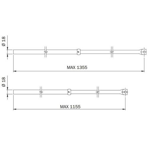 Couple Auctions Telescopic for Locks Triple Perfecta 990,063 Iseo