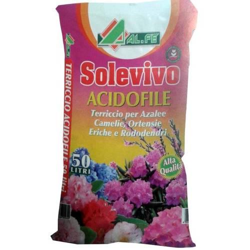 SOLEVIVO soil for plants Acidophilic Azaleas, Rhododendrons, Camellias, Gardenias Al.Fe