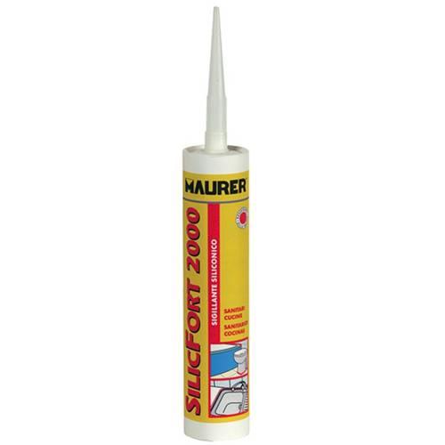 Acetic sealant SilicFort 2000 White 280ml 096,916 Maurer