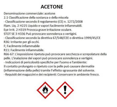 Acetone Lt.1 Art.1600 Multichimica