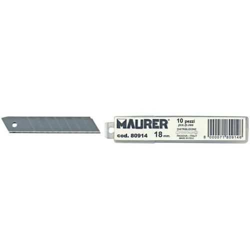 10 Break 18 mm blades for Cutter 80914 Maurer