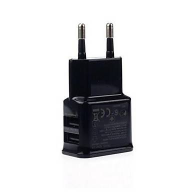 Power Adapter Black 2 USB 2.4A 5V charger for Iphone Smartphone