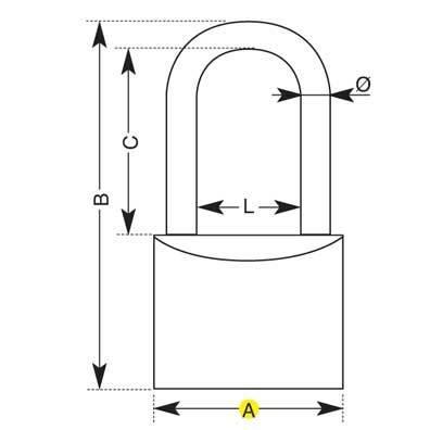 Padlock to Longbow Brass IBMF