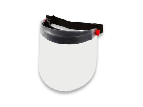 Protective Visor with Folding Polycarbonate Screen for Gardening