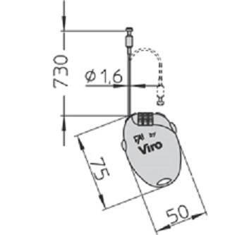 Cable and Combination Padlock Extensible FAI Viro