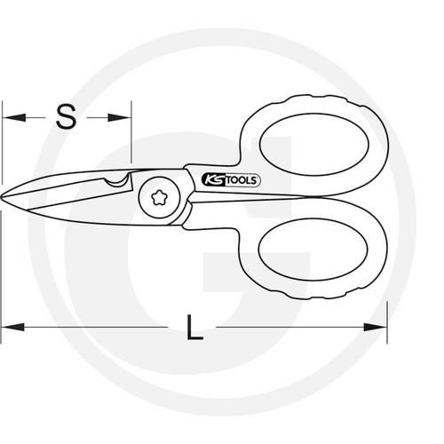 Universal Scissors with stripping tool mm.140 Ks Tools 7881180060