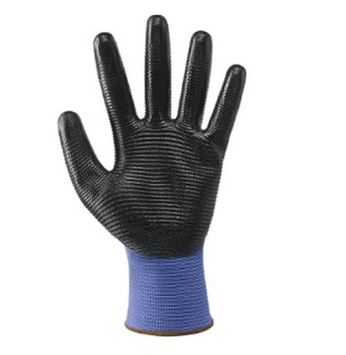 Continuous Wire Gloves Caliber 13 Polyester / NItrile 16 Nbr Crinkle 353086 Mac-Tuk