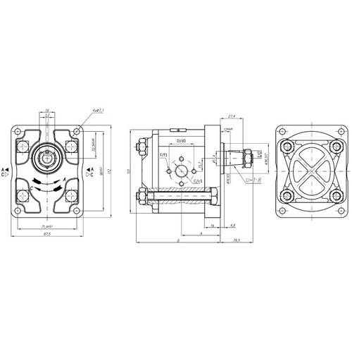 Pompa Trattore Plessey Fiat 5129478 5179730 8280040 A22 A25 Art.04407