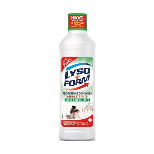 Lysoform Casa Disinfectant Detergent for Floors and Surfaces 900 ml Cedar and Bergamot