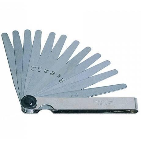 Thickness gauge 13 Blades mm.100 35101 Metric