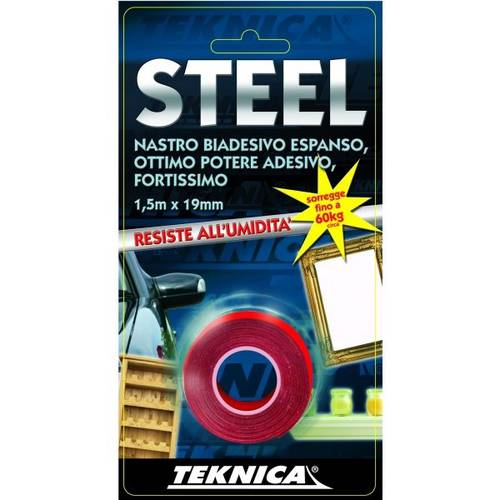 Double-sided adhesive tape Fortissimo Steel 1.5mx 19mm Teknica TK13-0350