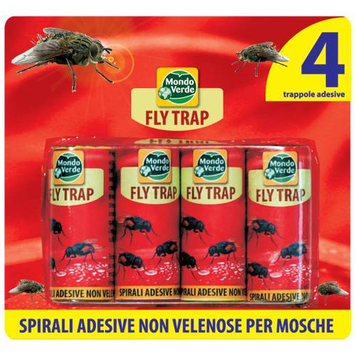 4 Traps Adhesive for Flies FLY TRAP
