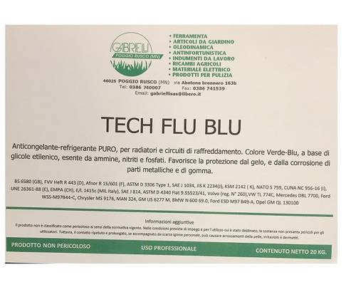 Puro Tech Flu Blue Antifreeze for Radiators and Cooling Circuits 20kg