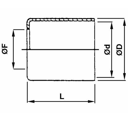 Aluminum bushing for pipes Low Pressure
