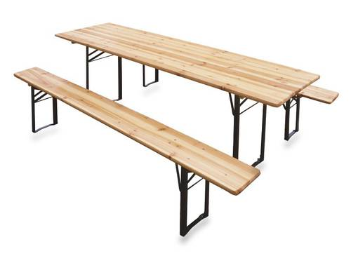 Beer Garden Table and Bench Set 220x70cm 2360 Verdelook