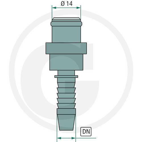 "DKO fitting NW 08-2000 Galvanized Steel DN 08 - 5/16 ""87003028 Granit"