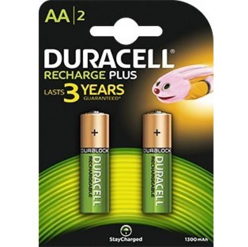 2 Pile Ricaricabili Ministilo AA 1300mAh Duracell