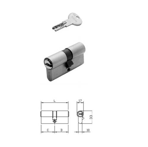 Cylinder R6 Double Profile 80 mm 880930509 Iseo