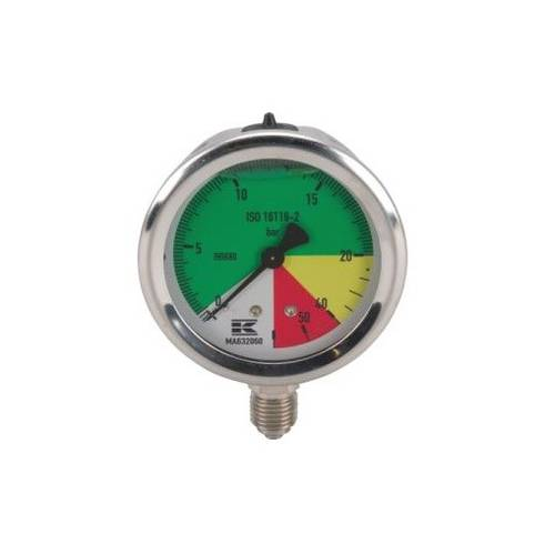 "Pressure gauge with Glycerine 20-60 bar 1/4 ""Wika"