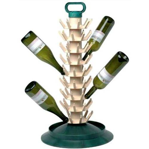 Bottle rack 81 places with handle STELPLAST